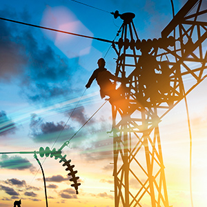 electrician on power line, commercial hvac industry update