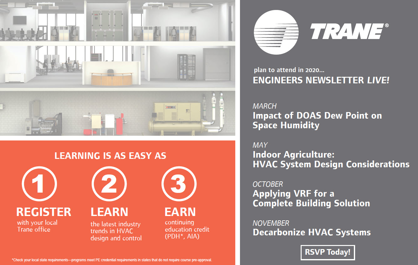 Trane S Engineers Newsletter Is Live Supporting Distance Learning For Engineers During Covid 19