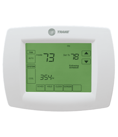 xl802 programmable touch screen thermostat trane rh trane com Trane Commercial Programmable Thermostat Trane Thermostat ManualsOnline